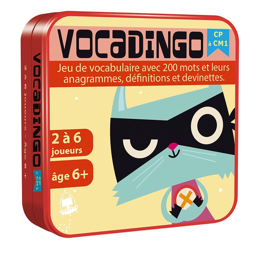 Vocadingo CP à CM1 : Jeu de vocabulaire avec 200 mots et leurs anagrammes, définitions et devinettes. / François Guély |