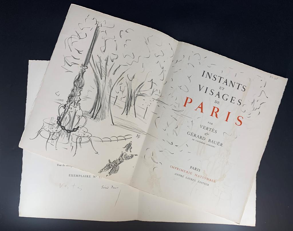 Instants et visages de Paris / par Vertès et Gérard Bauër,... | Bauër, Gérard (1888-1967). Auteur