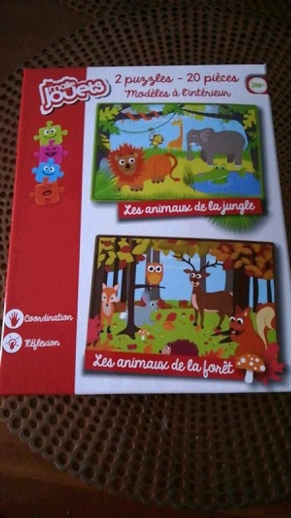 2 Puzzles : Les animaux de la jungle ; les animaux de la forêt  