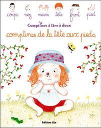Comptines de la tête aux pieds / illustrations d'Amélie Graux   Graux, Amélie (1977-....). Illustrateur