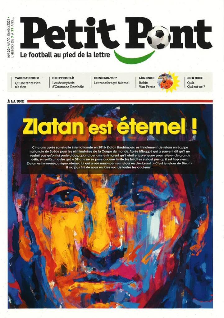 Petit Pont : Le football au pied de la lettre. 120, Mardi 6 Avril 2021 |