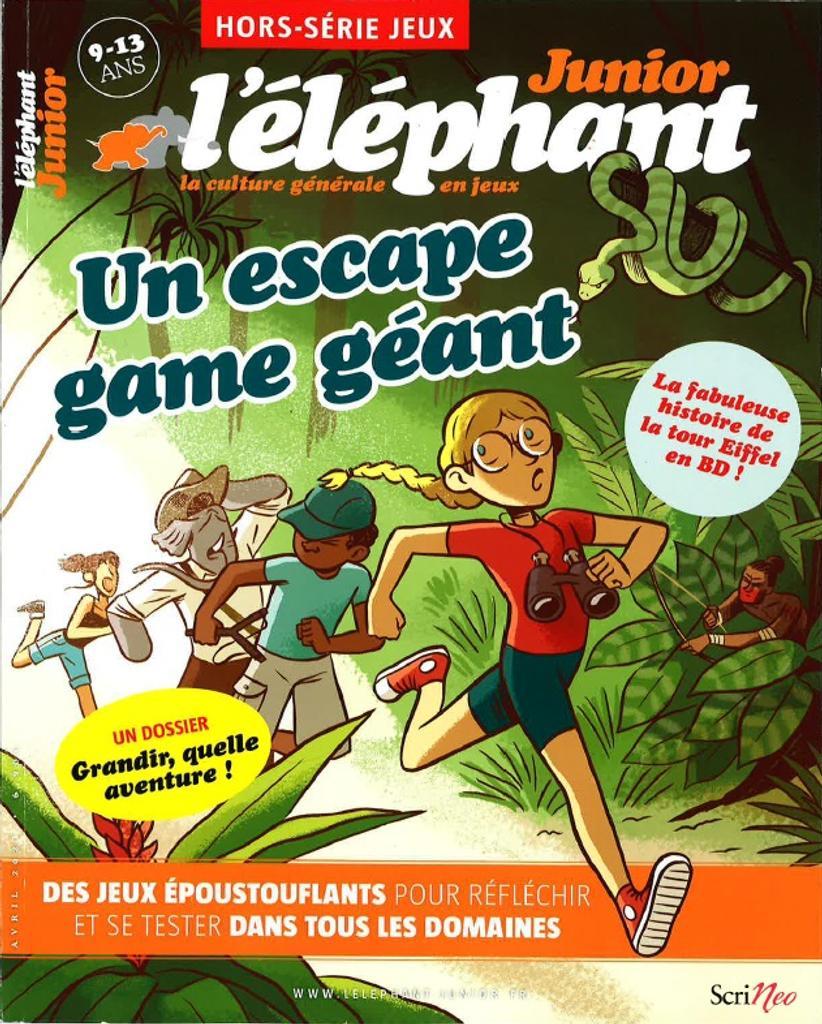 L'éléphant Junior : la culture générale en jeux. HS, Avril 2021 |