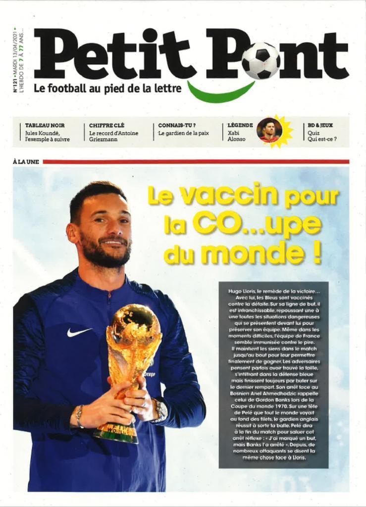 Petit Pont : Le football au pied de la lettre. 121, Mardi 13 Avril 2021 |