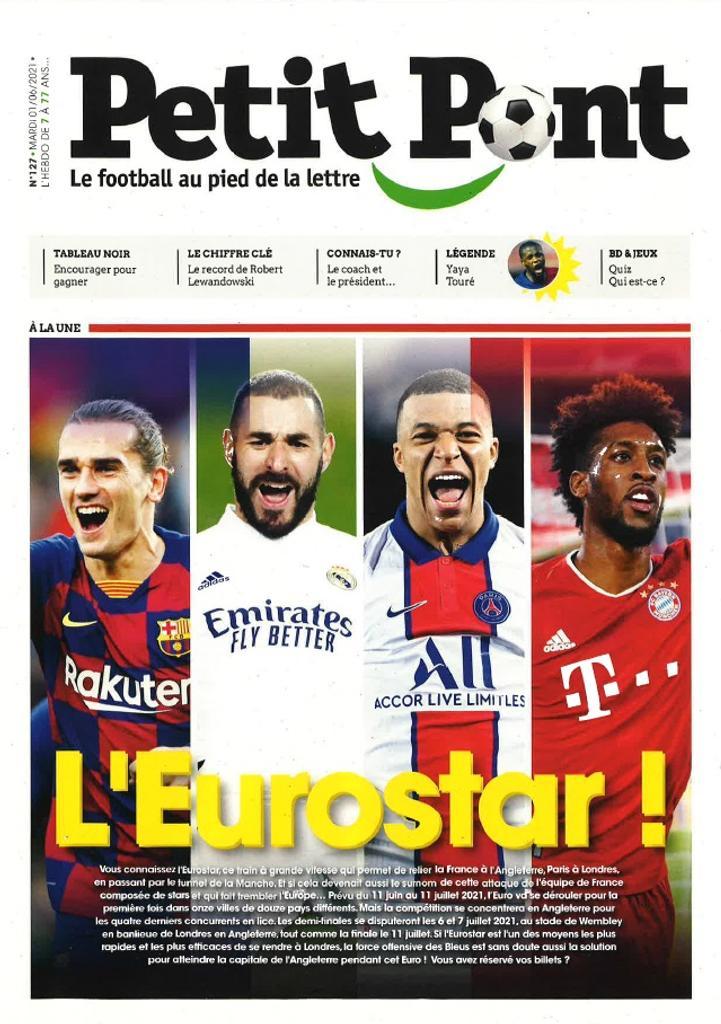 Petit Pont : Le football au pied de la lettre. 127, Mardi 1 Juin 2021 |