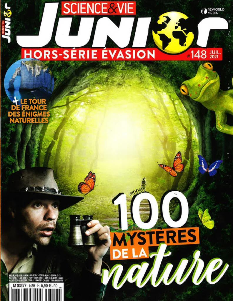 Science & vie Junior. Hors-série Évasion #148, Juillet 2021 |