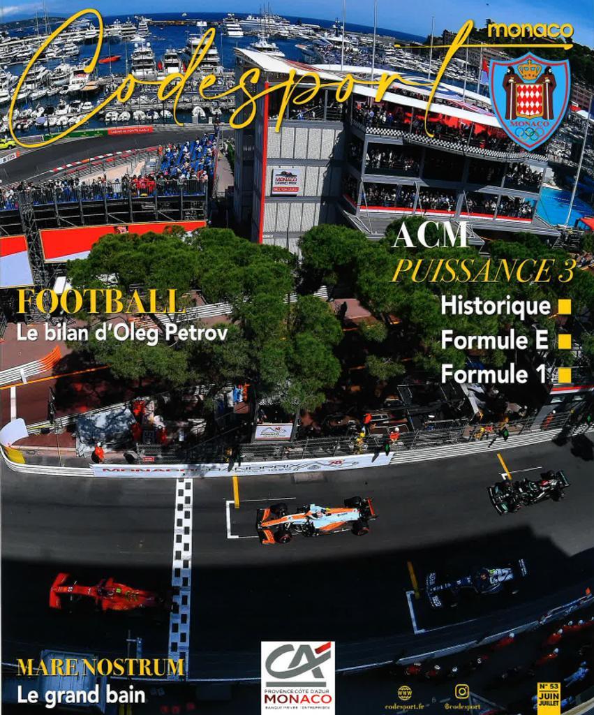Code sport Monaco : le magazine de sport de la principauté. 53, Juin-Juillet 2021 |