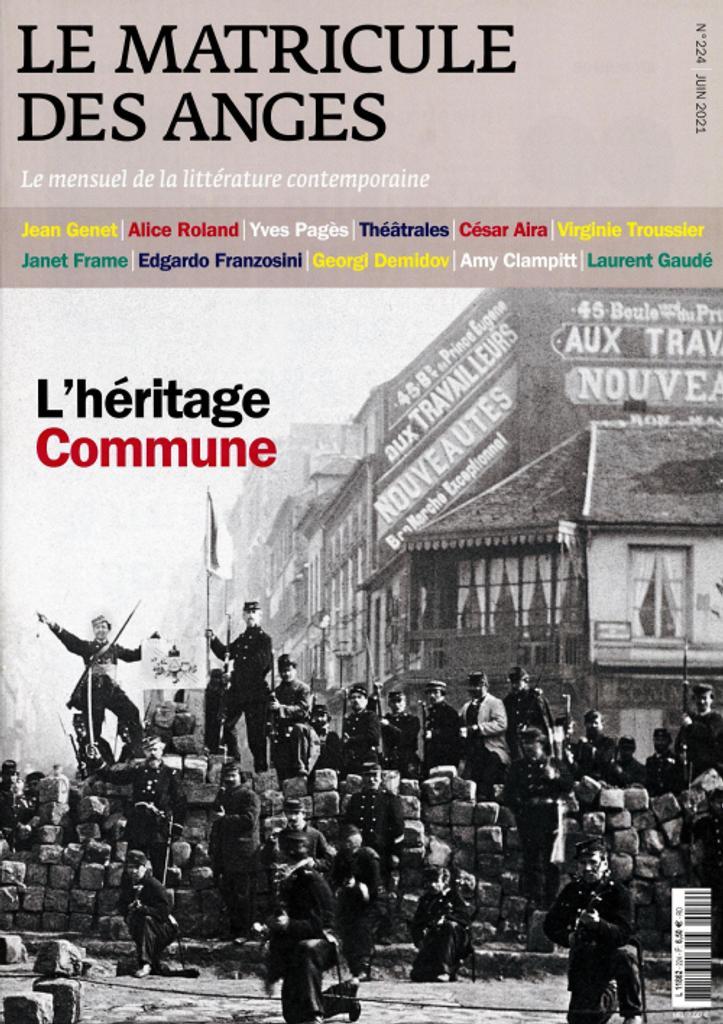 Le matricule des anges : le mensuel de la littérature contemporaine. 224, Juin 2021 |
