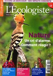 L' Ecologiste : édition française de The Ecologist. 58, Juillet-Septembre 2021 |