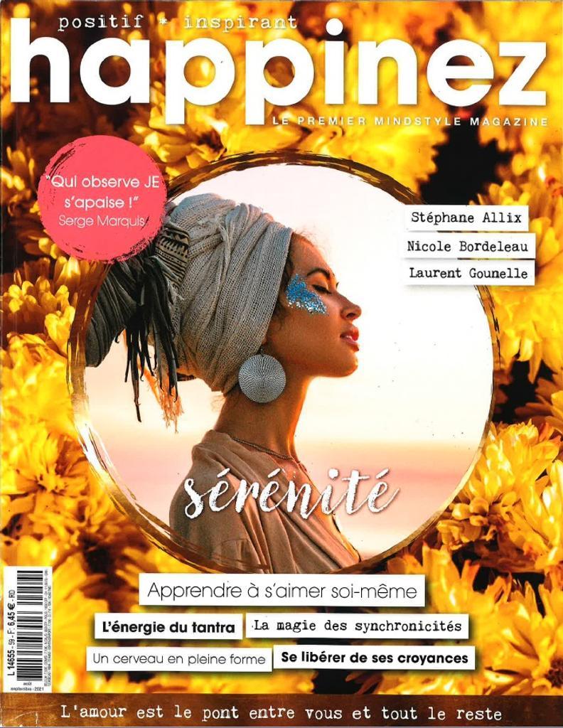 Happinez : féminin, positif, inspirant. 59, Août-Septembre 2021 |