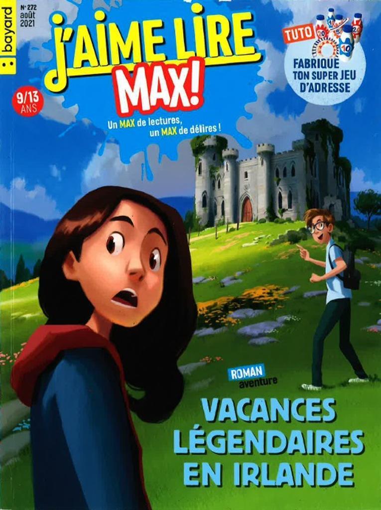 J'aime lire Max ! : un max de lectures, un max de délires !. 272, Août 2021 |