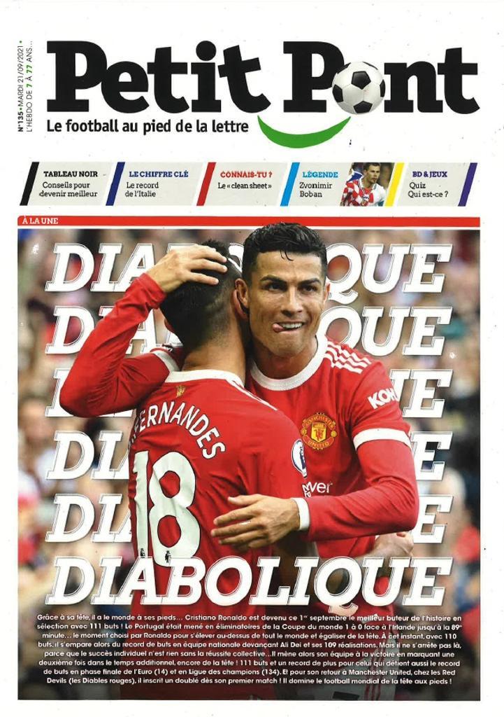 Petit Pont : Le football au pied de la lettre. 135, Mardi 21 Septembre 2021  
